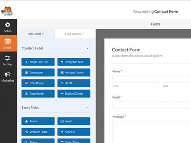 Contact form for your Wordpress website with WPForms plugin
