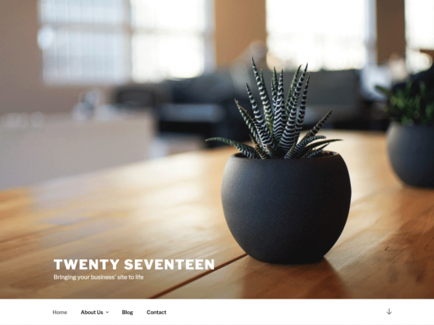 Wordpress website design with Twenty Seventeen theme