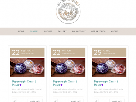 Blowfish Glass Site Design